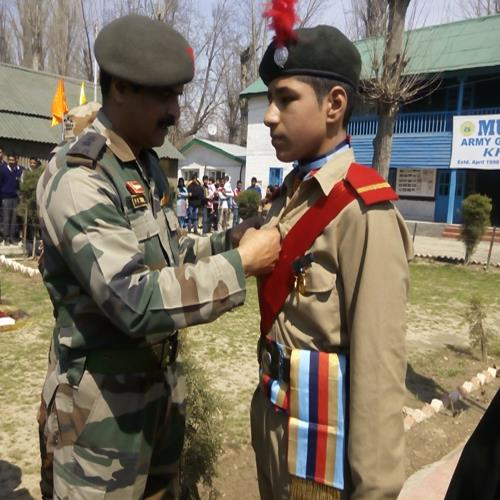 Honour to NCC  Cadet